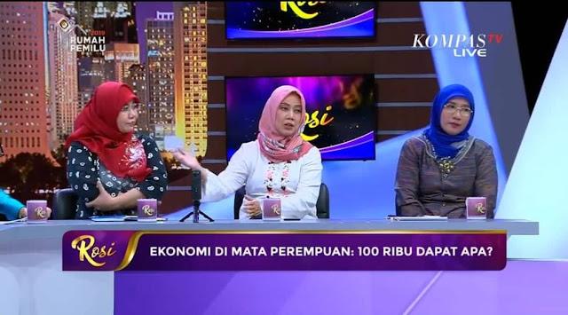 Telak! Emak-emak Pendukung Prabowo-Sandi Bungkam Pendukung Jokowi di KompasTV