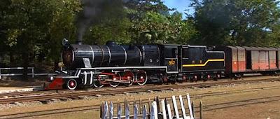 Old Myanmar steam locomotive