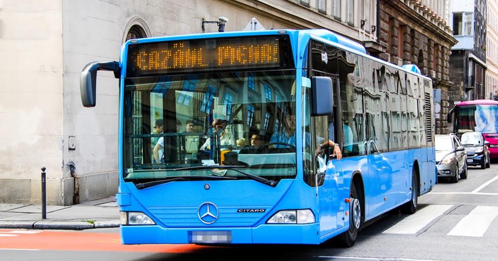 Bus Mit Leuten Die Das Interessiert