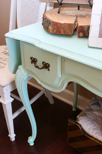 Foyer Table Meaning : Tattered and inked mint foyer table makeover