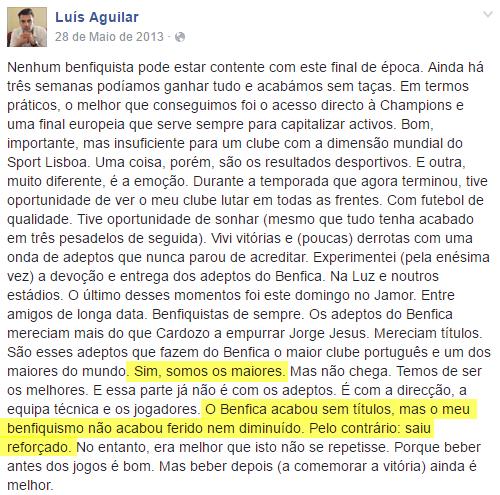 O Artista do Dia  Futebol Português  Introducing Luís Aguilar 11269afa9eee3