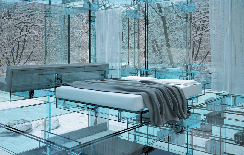 transparent glass house concept most beautiful houses in the world. Black Bedroom Furniture Sets. Home Design Ideas