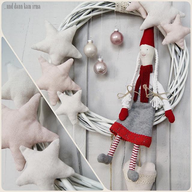 Blogger-Adventskalender, Mädchen, Nähanleitung, nähen, Nisse, Schnittmuster, tomtenisse, Tutorial, Weidenkranz, Weihnachtskranz, Weihnachtswichtel,