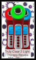 Three Truly Clear Light Therapy units, featuring the three different light options, with the title text.
