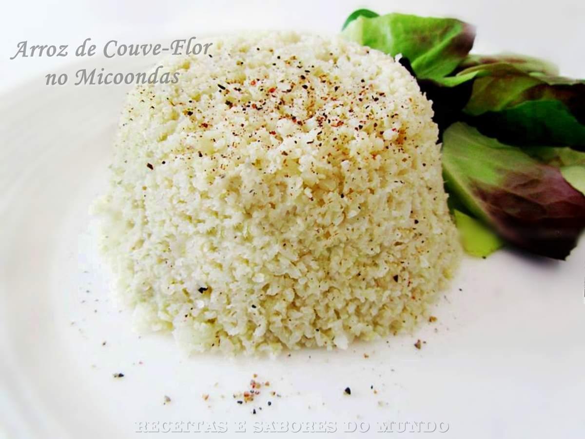 Arroz De Couve Flor No Micoondas Dieta Dukan Receitas E Sabores