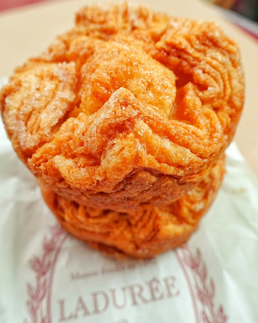 Kouign Amann from Ladurée in Paris - caramelized sugary croissants - a MUST in Paris!