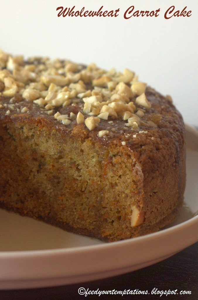 whole wheat carrot cake recipe, carrot cake recipe, best carrot cake recipe, moist cake recipe