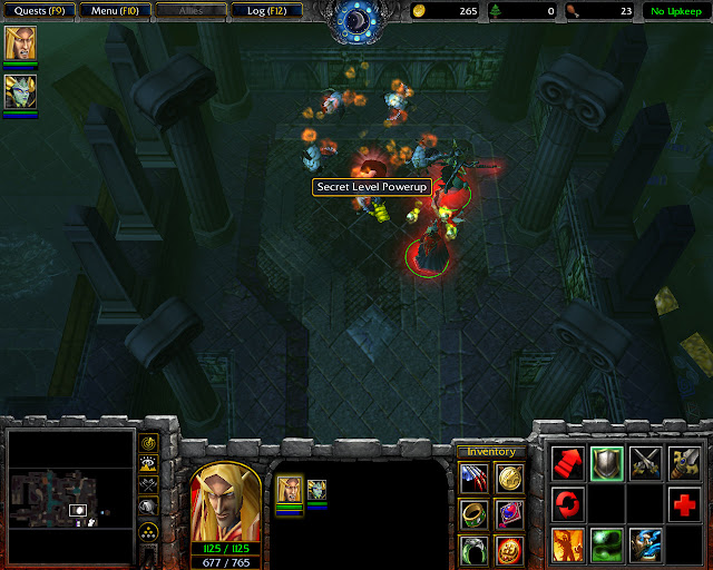 Secret Level Powerup Screenshot | The Dungeons of Dalaran Mission 11 | Warcraft 3: The Frozen Throne