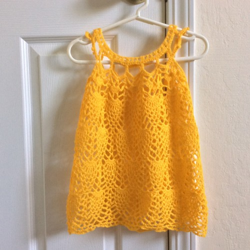 Pineapple Cascade Baby Dress - Free Pattern