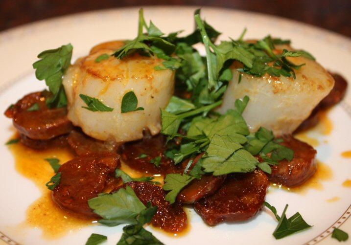 Recepten testen coquilles met chorizo - Ma voorgerecht ontwerp ...