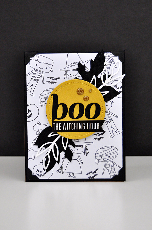 Boo stamped Halloween card by Jen Gallacher for www.jengallacher.com. #halloween #card #cardmaker #stamping #diecutting
