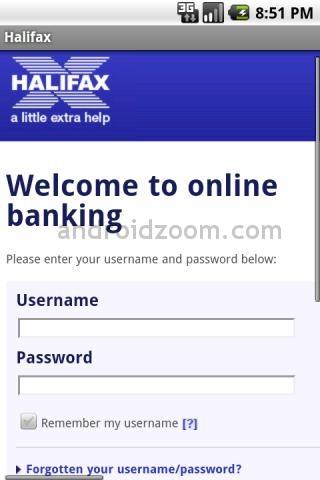 halifax online banking login page