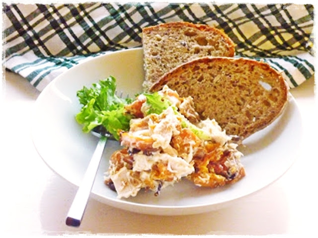 butternut squash and chicken mayonnaise