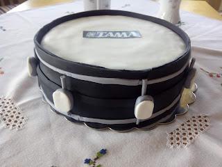 Vista lateral tarta batería