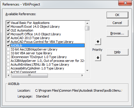 How to adjust settings for Microsoft Visual Basic for Application to