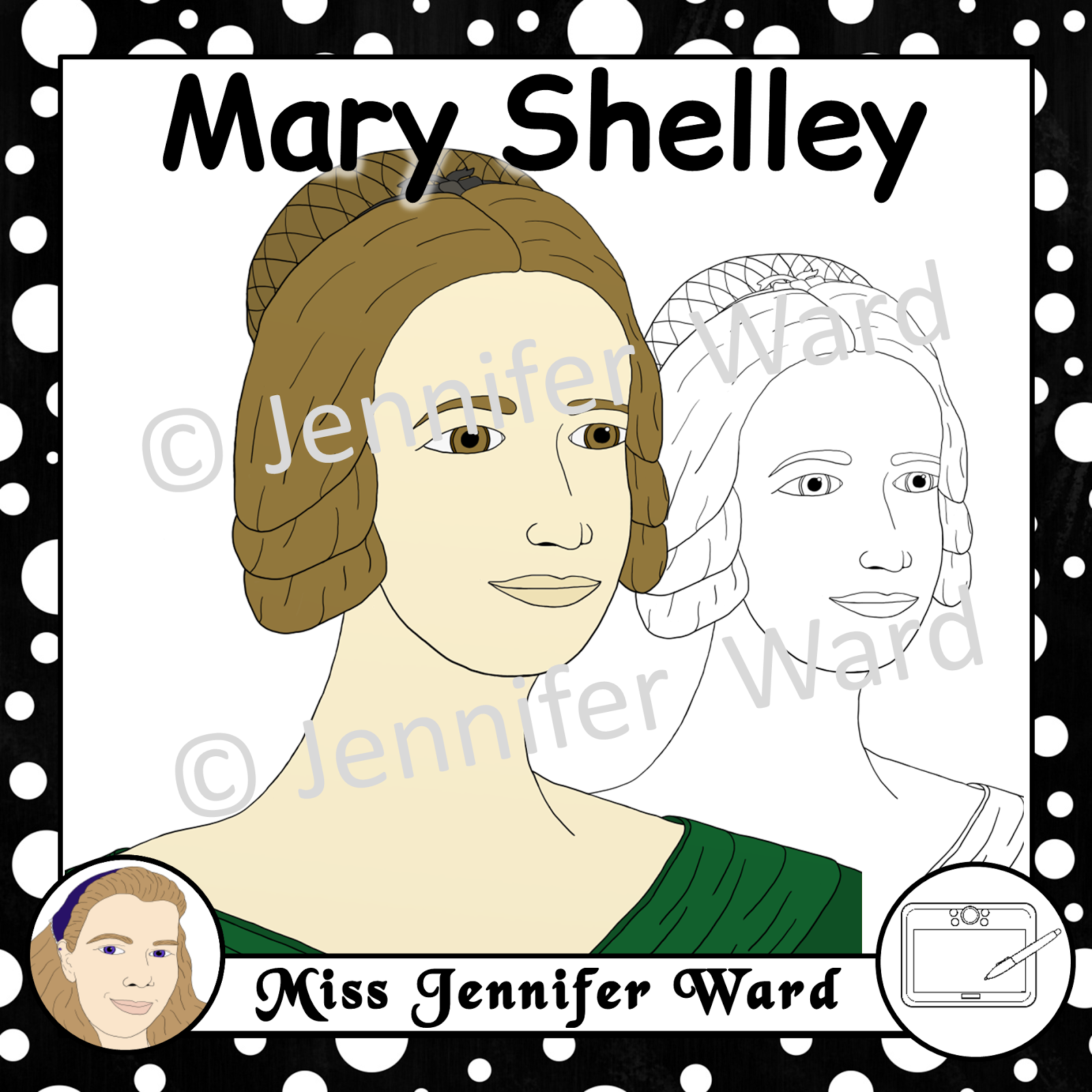 https://www.teacherspayteachers.com/Product/Mary-Shelley-Clipart-2477856
