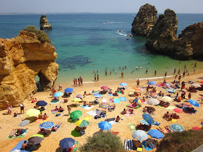Praia do Camilo beach in Algarve