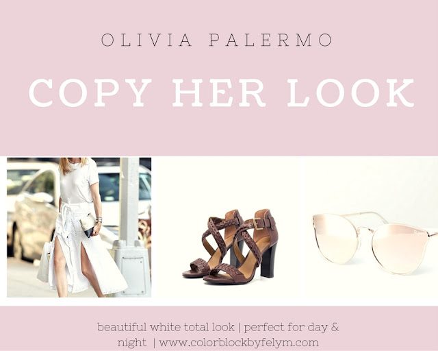 olivia palermo white total look copia lo stile di olivia palermo gonna bianca in pizzo san gallo t-shirt bianca occhiali a specchio outfit olivia palermo agosto 2016 fashion moda street style colorblock by felym mariafelicia magno fashion blogger blog di moda italiani