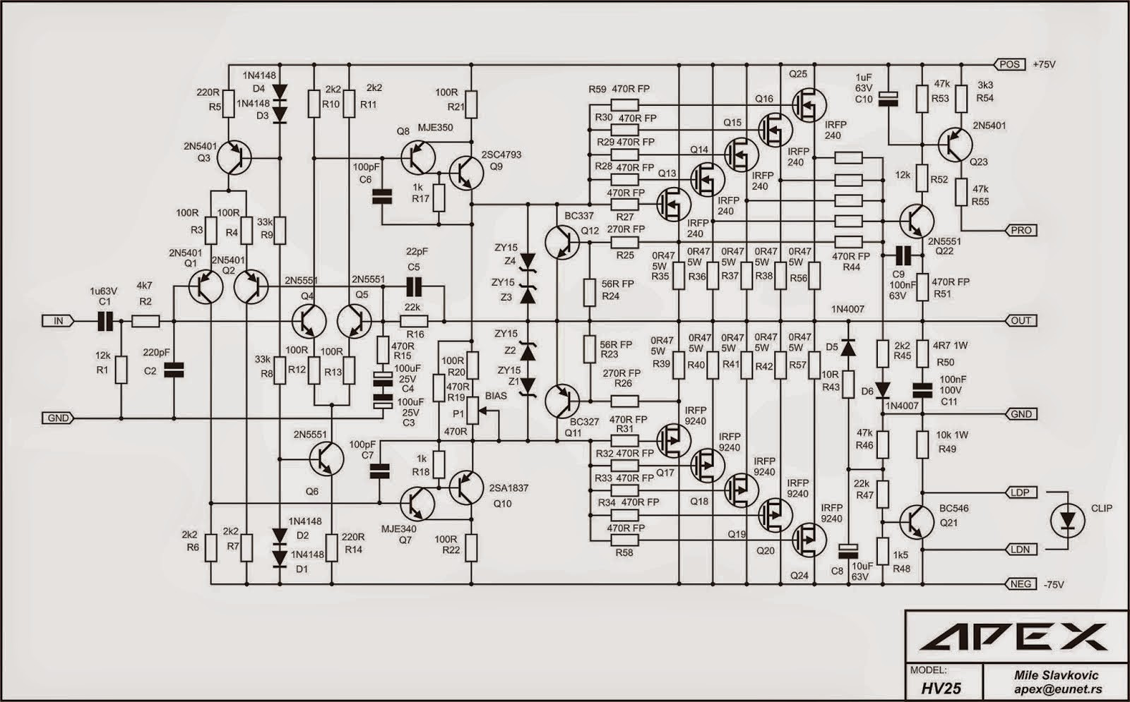 2000w Power Amplifier Circuit Diagram Heart Rangkaian Mosfet Yang Banyak Disukai