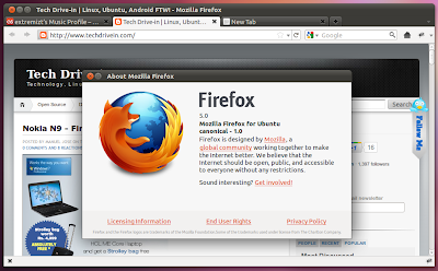 Firefox 5.0 Update Arrives in Official Ubuntu Repositories