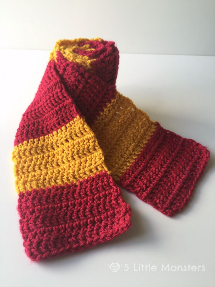 5 Little Monsters Harry Potter Outfits And Scarf Pattern