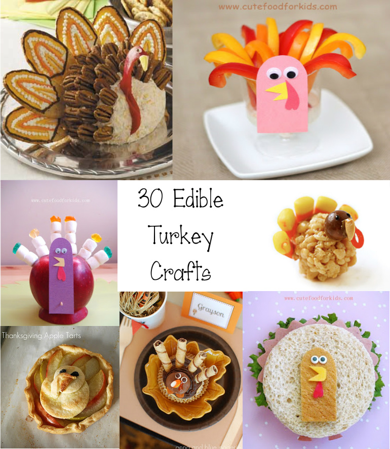 Cute Food For Kids?: 30 Edible Turkey Craft Ideas for ...