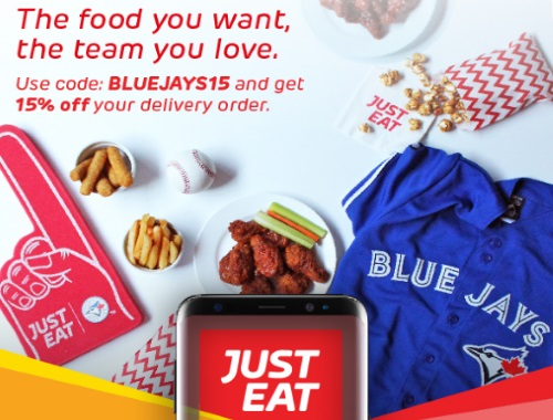 JustEat 15% Off Blue Jays Promo Code