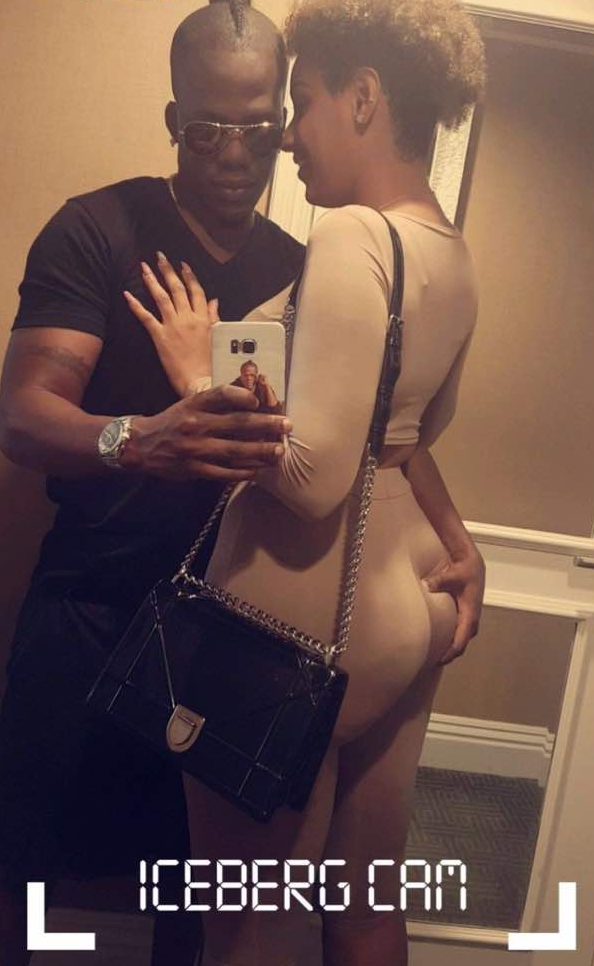 Juliet Ibrahim's boo Ice Berg slim squeezes her butt as they get matching tattoos