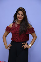 Pavani Gangireddy in Cute Black Skirt Maroon Top at 9 Movie Teaser Launch 5th May 2017  Exclusive 064.JPG