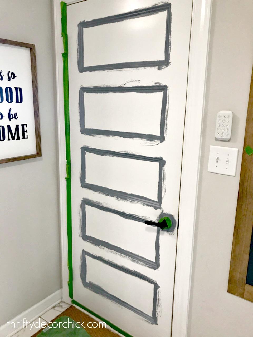 Priming interior doors before paint