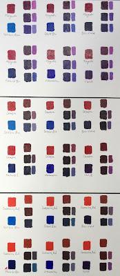 Colour Mixing Studies 'Green & Violet'
