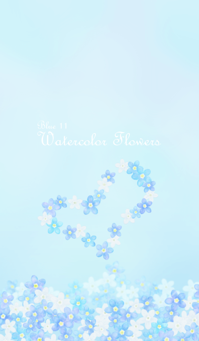 Watercolor Flowers[forget-me-not]Blue 11