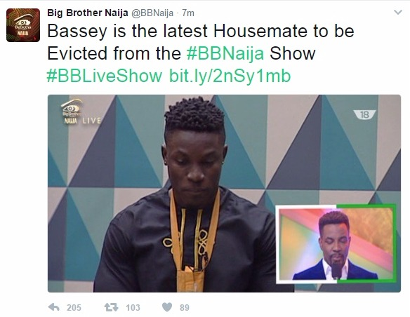 Big Brother Naija: Bassey evicted