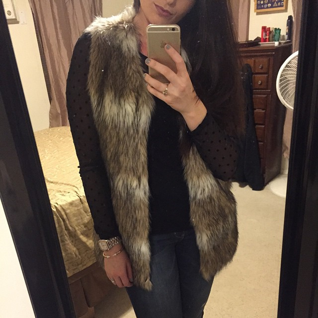 Chicwish Faux Fur Vest