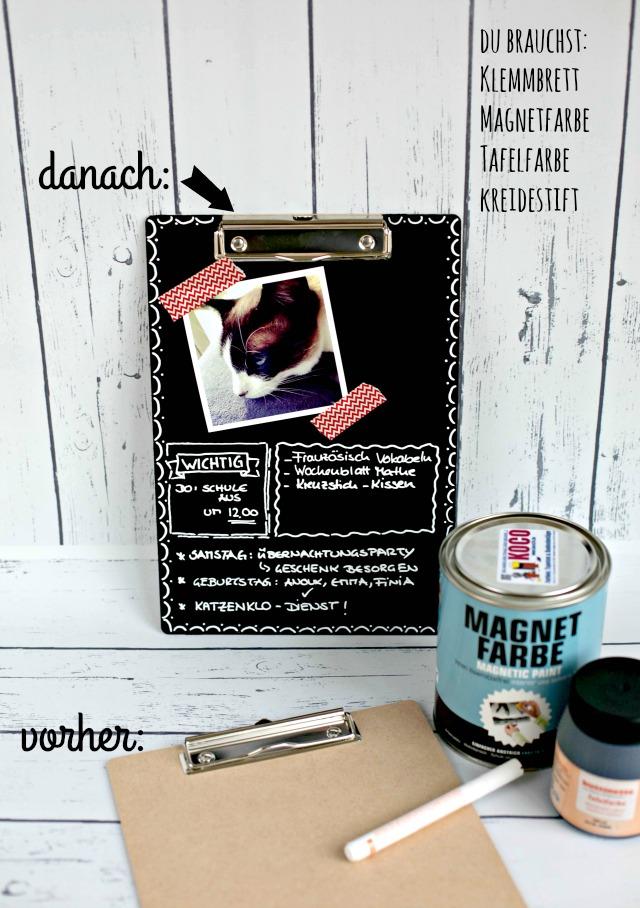 Deko Klemmbretter aus Tafelkreide - Blackboard, Chalkboard, DIY
