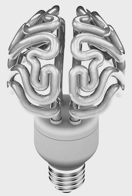 Something Amazing Creative Light Bulb In Human Brain Shaped