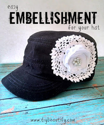 Learn how to make a boutique embellishment for your hat at a bargain price! Video and details at DIY beautify