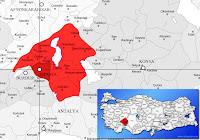 Isparta merkez ilçesinin nerede olduğunu gösteren harita