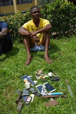 Young Cultist Arrested With Gun, 15 Mobile Phones (Photo)