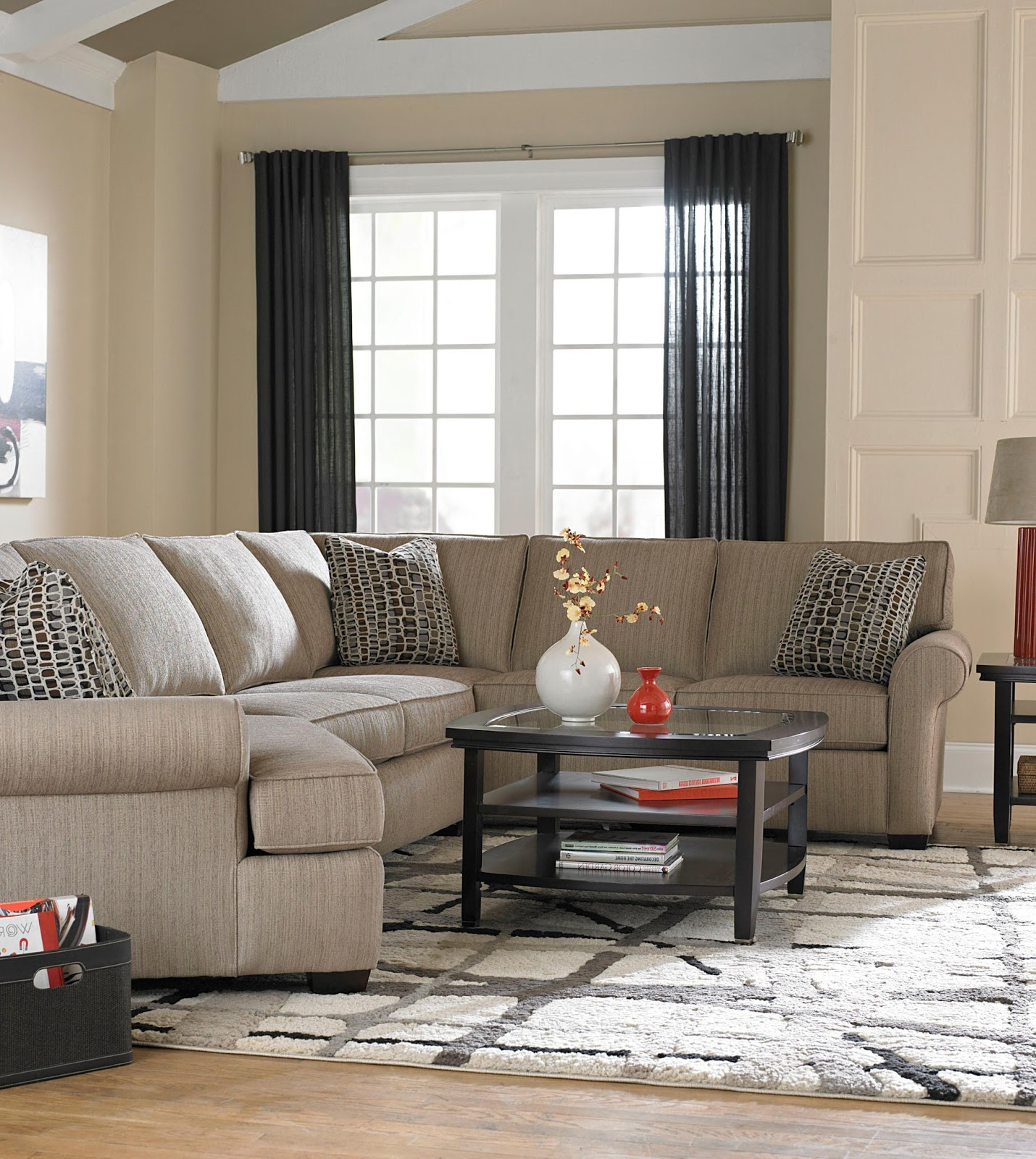 versatile seating with a sectional sofa