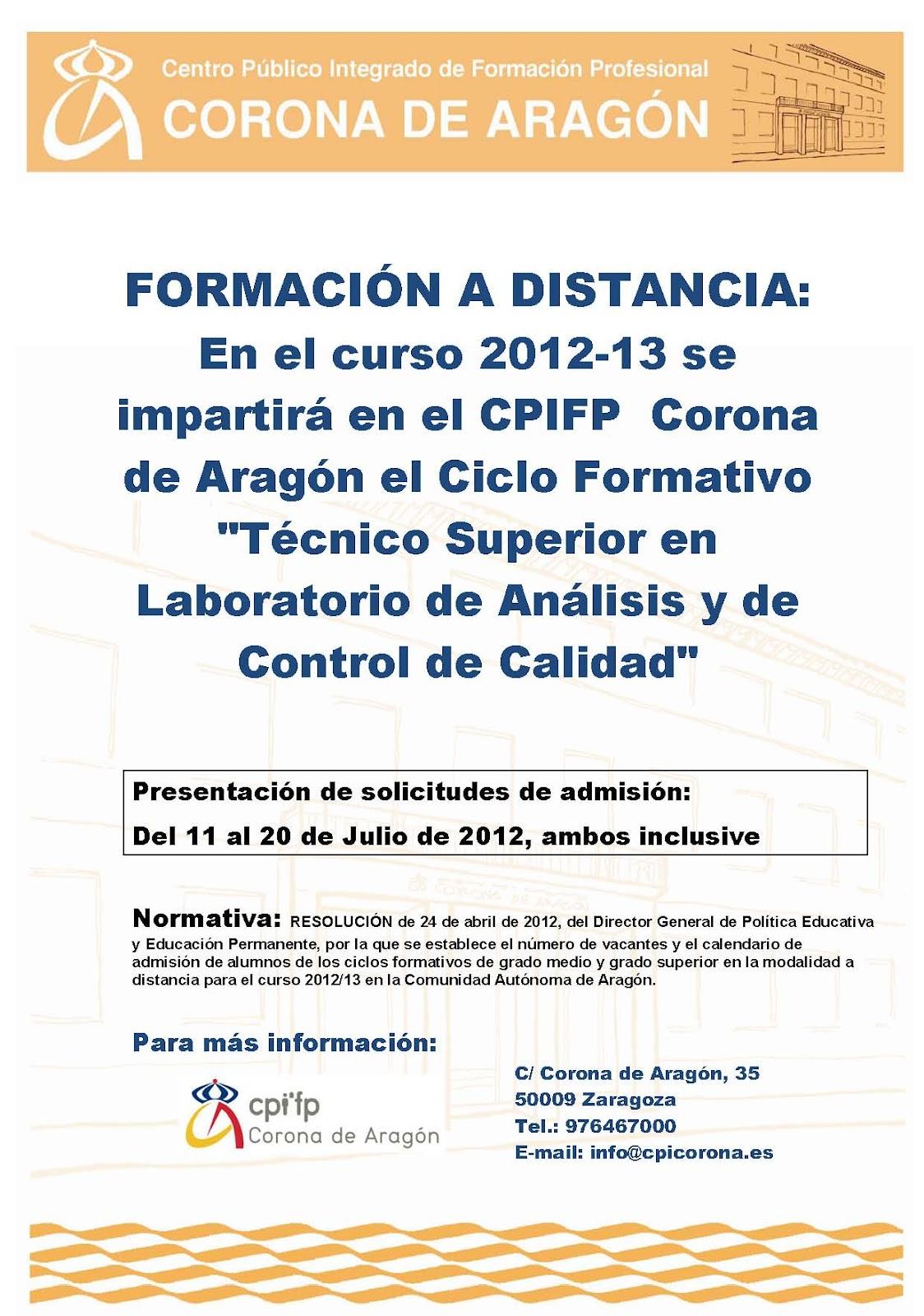 Centro Integrado De Fp Corona De Aragón Formación A