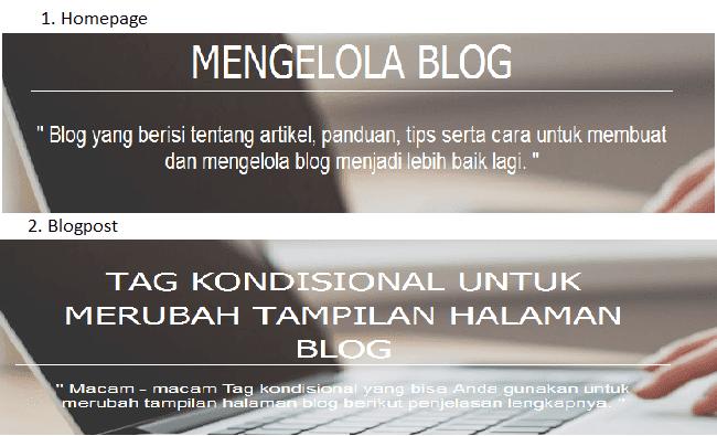 cara merubah judul blog menjadi judul postingan