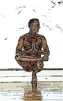 Profe de yoga dando clase