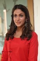 Actress Lavanya Tripathi Latest Pos in Red Dress at Radha Movie Success Meet .COM 0156.JPG