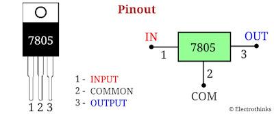 7805 Voltage Regulator Pinout, Symbol