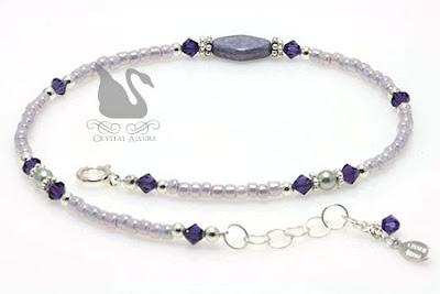 Swarovski Crystal Luscious Lavender Diamond Anklet (A110)
