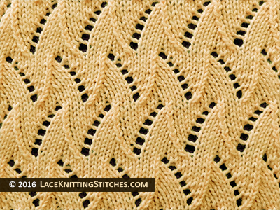 27 Eyelet And Flame Chevron Lace Knitting Stitches