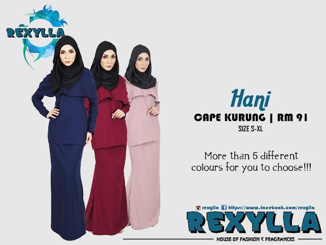 rexylla, cape kurung, hani collection