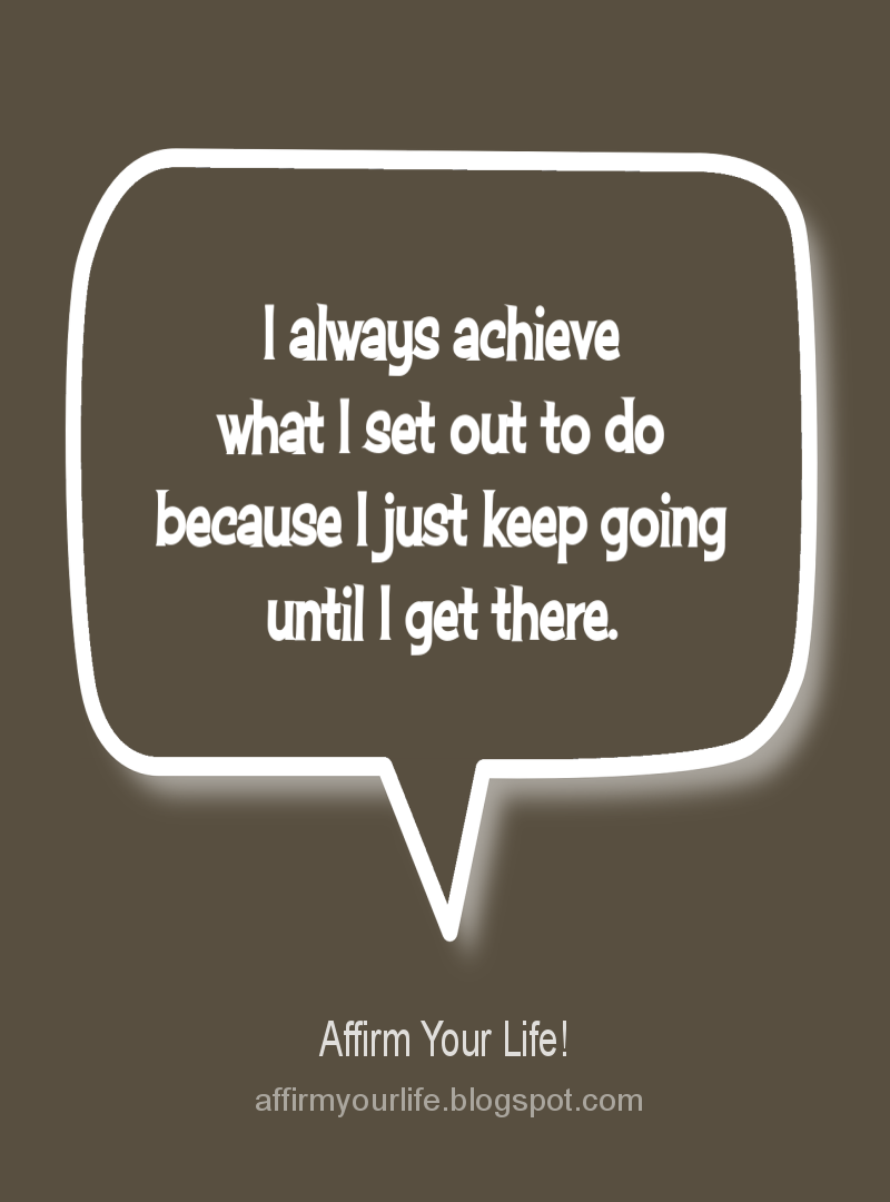 SUCCESS affirmation