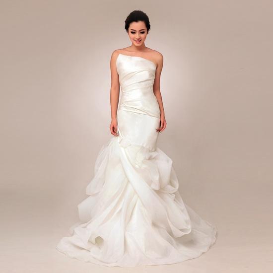 Organza Wedding Gowns: Strapless Trumpet Mermaid Organza Wedding Dress Fun And